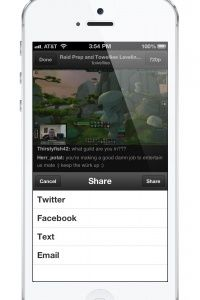 The iPhone app for Twitch enables on-the-go sharing for viewers.