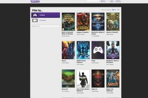 Twitch's website directory can be browsed by anyone.