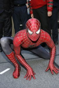 Were we endowed with two hearts, we wouldn't have to be bitten by a spider to have superhuman strength like Spider-Man, shown here in Times Square in 2007.
