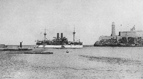The USS Maine enters Havana Harbor