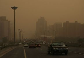 Image Gallery: Environmental Issues Smog over Beijing, China, in May 2008. The nation is the largest emitter of carbon dioxide; the United States is a close second. See more pictures of environmental issues.