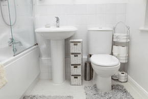 If an odor in your bathroom just won't go away, check the tank.