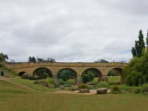 The Richmond bridge in the heart of Tasmanian wine country, Australia. See our collection of wine pictures.