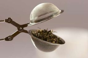 A simple tea strainer, so you're not swallowing any loose leaves
