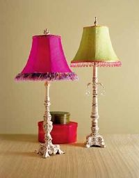 Fill the space with low-cost items, like funky lamps and colorful bedding, that you can replace with each new trend.