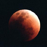 Lunar eclipse over Merritt Island, Florida