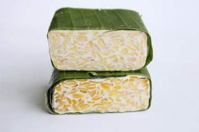Tempeh is typically sold in cake or patty form.