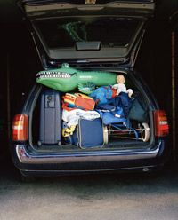 The stuff in your trunk might be slowing you down.