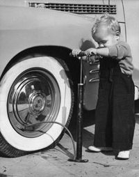 Properly inflated tires will make your ride more efficient.