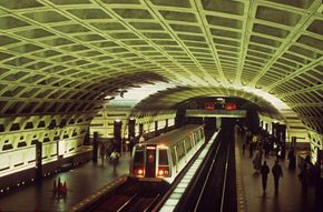 Public transport, like the D.C. Metro, cuts back on pollution and congestion.