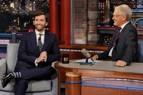 """Actor David Tennant appearing on """"The Late Show with David Letterman"""" in 2014."""