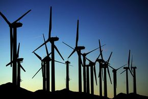 Wind turbines, like these in Palm Springs, Calif., are examples of other turbines being used to generate electricity. Unlike Tesla's model, these are bladed turbines.