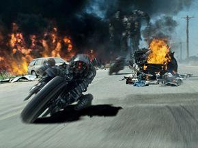 A pair of Moto-Terminators in attack mode.