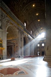 Terrazzo, like the stuff found in the floors of St. Peter's Basilica, can be incredibly ornate and beautiful.