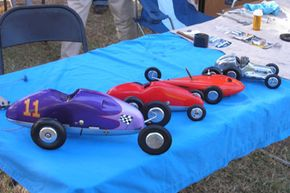 Vintage tether cars. See pictures of classic toys.