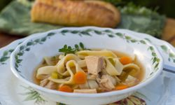 Turkey noodles soup can do a body good.