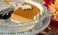 Jazz up your leftover pumpkin pie with a special sauce drizzled on top.