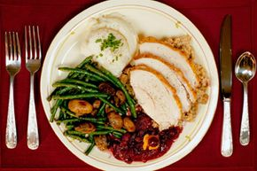 Enjoy your Thanksgiving dinner, but try to control the portion size.