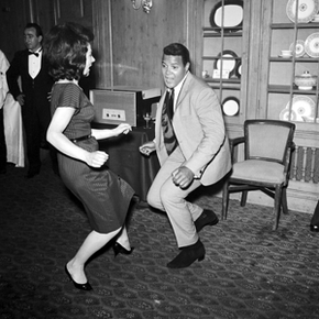 The King of the Twist himself, Chubby Checker, demonstrating his expertise.