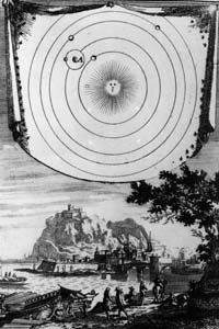 Copernicus' heliocentric model of the universe attracted criticism from the church.