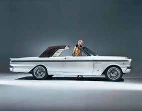 George Barris turned a 1963 Fairlane 500 into the Landau Starburst and gave it an alligator-skin-covered top.
