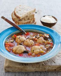 Meatballs go just as well in soup as they do in pasta.