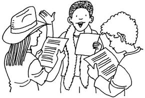 Write a Play Day theatre activity