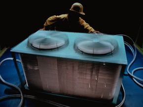One form of thermal technology has to do with climate control units, such as this rooftop air conditioning unit.