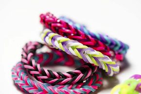 Among the reuses for rubber bands? Colorful bracelets!