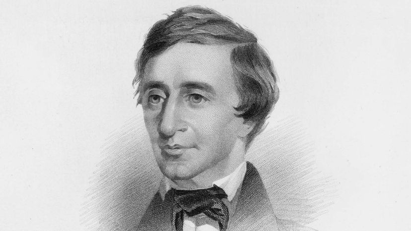Henry David Thoreau Black and White Bust Portrait