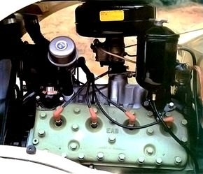Genuine Ford flathead V-8's can be found under the Roadster's hood.