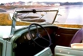 The Roadster's interior is pure 1934 Ford except for the non-woodgrain dash.