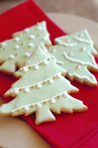 Large batches of Christmas cookies can be baked and decorated early on, then frozen and doled out a few at a time throughout the season.