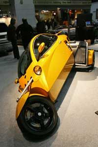 The three-wheeled, Carver brand leaning car. See more small car pictures.