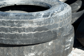 Image Gallery: Car Safety Uneven wear is obvious on these old tires. Don't let your tires get this bad. See more car safety pictures.