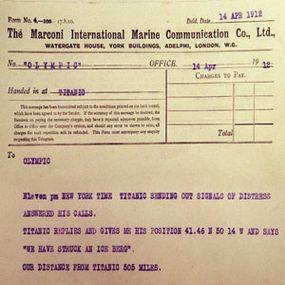 telegraph from Titanic