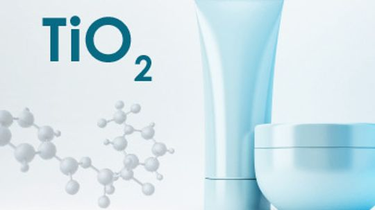 How does titanium dioxide work in cleansers?