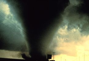 The Dimmitt Tornado, south of Dimmitt Texas. Photographed as part of project VORTEX.