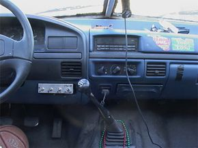 The TIV uses a Ford F-450's dashboard, steering and transmission.
