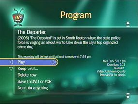 © 2007 TiVo Inc. All Rights Reserved. The Amazon Unbox function on TiVo