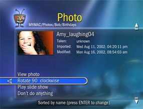 You can view photos on your TiVo