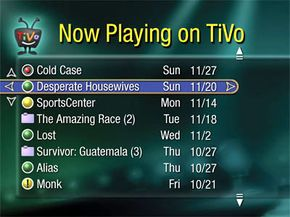 Image courtesy © 2007 TiVo Inc. All Rights Reserved. TiVo's Now Playing Screen