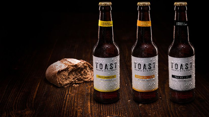 Toast Ale beers and bread