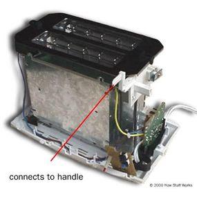 Toaster lowering mechanism