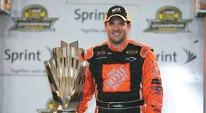 Tony Stewart's intense work ethic and exuberant showmanship has made him one of NASCAR's most promising young drivers. See more pictures of NASCAR.