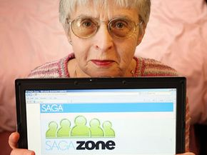 Saga Zone is a UK social networking site for over-50s.