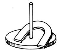 Toss a ringer and earn three points in the floppy horseshoes game.