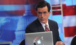 Stephen Colbert shows off his trademark deadpan stare.