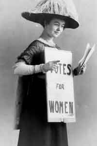 An American suffragette in 1916.