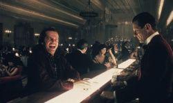 "Jack Nicholson is served a drink by eerie barman Lloyd (Joe Turkel) in a scene from ""The Shining,"" directed by Stanley Kubrick."